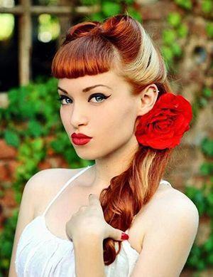 зачіска в стилі рокабіллі