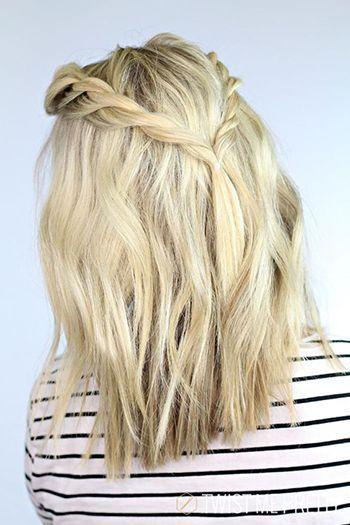 проста романтична зачіска