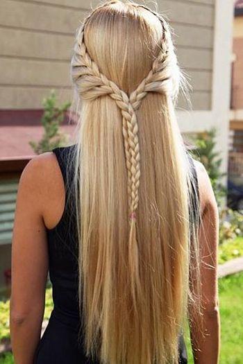 романтична зачіска на довге волосся