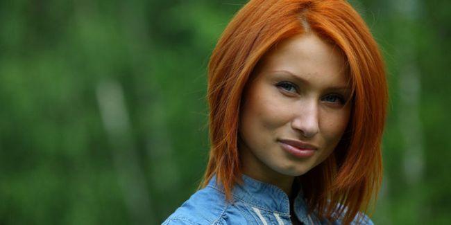 Рудий колір волосся: фото відтінків