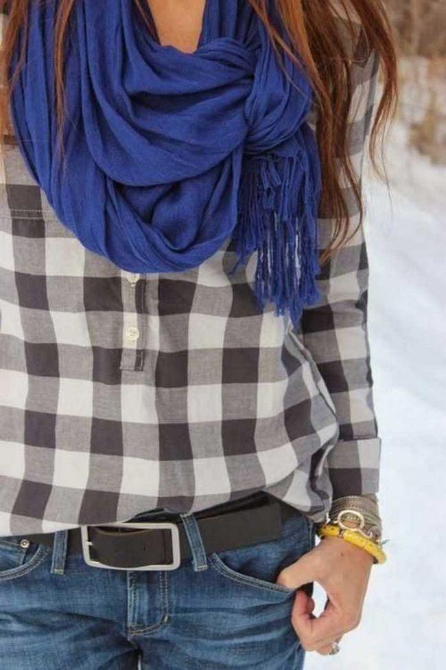 З чим модно носити сорочку в клітку? Фото і образи