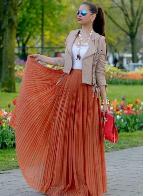 З чим носити довгу спідницю і бути в тренді - правила вибирання верху і аксесуарів
