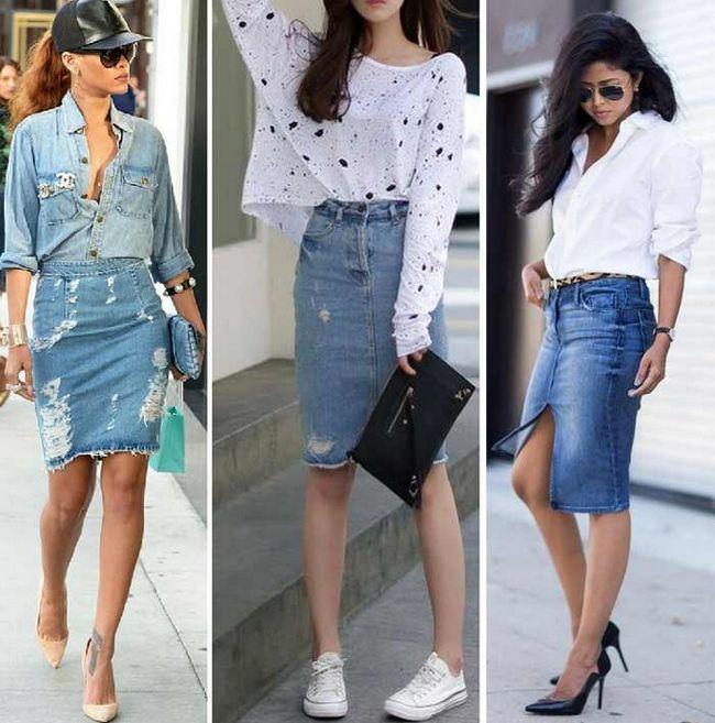 З чим носити джинсову спідницю: образи та тенденції