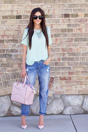 блакитні джинси бойфренди