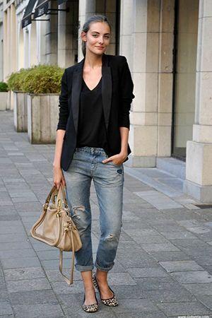 поєднання джинсів і жакета