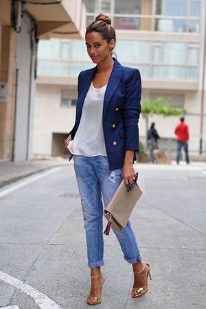джинси бойфренди з піджаком
