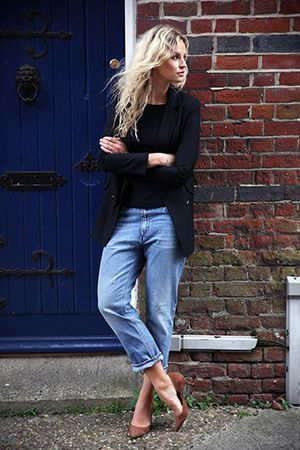 модний образ з джинсами