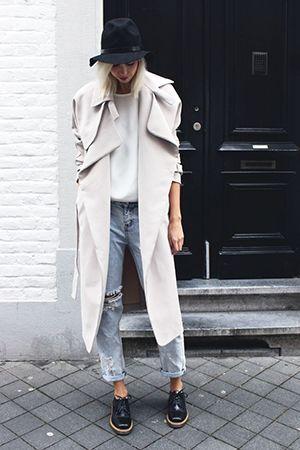 джинси з пальто