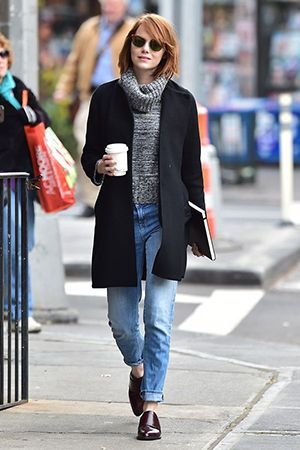 комплект джинси і пальто