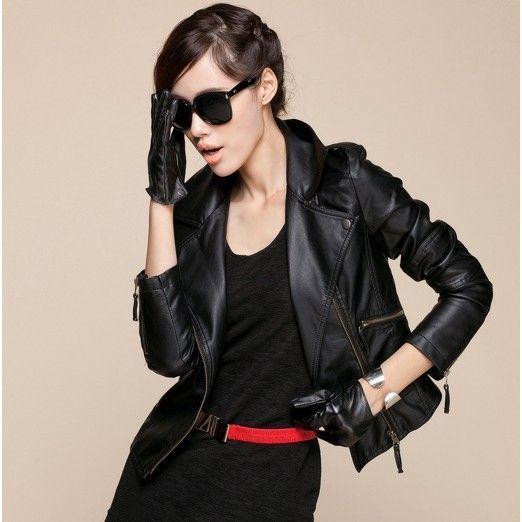 З чим носити коротку шкіряну чорну куртку