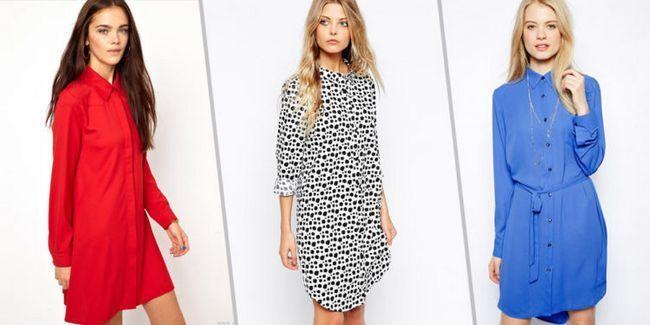 З чим носити плаття-сорочку: фото модних образів