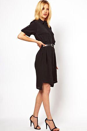 чорне плаття-сорочка
