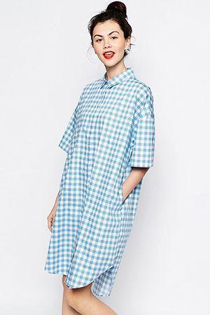 сукня-сорочка в клітку