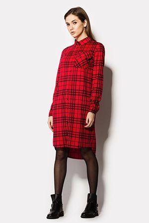 плаття сорочка в шотландську клітинку