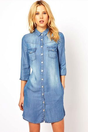 плаття сорочка з джинси