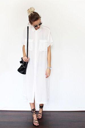 довга сукня-сорочка