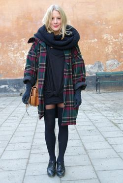 пальто в клітку