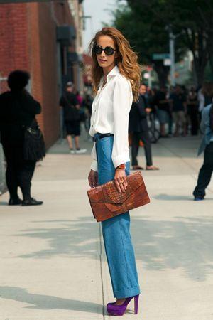 з чим носити сині штани