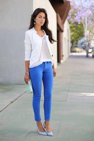 сині штани з білим верхом