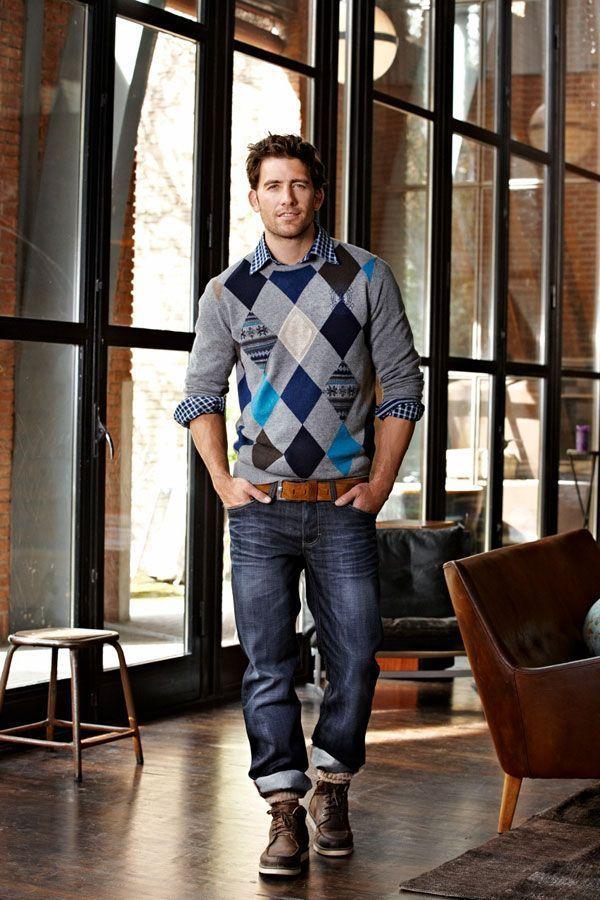 З чим носити светр, джемпер, пуловер або кардиган чоловікові?