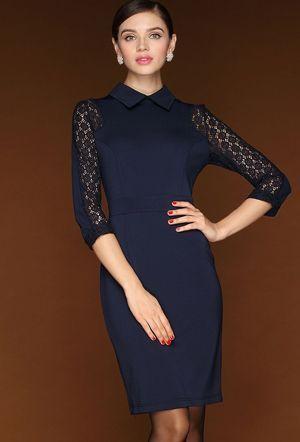 синє скромне плаття