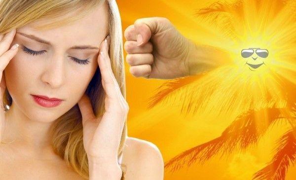 Сонячний удар: причини і симптоми
