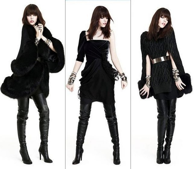 Стиль одягу - чорний колір.