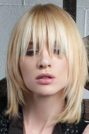 драбинка на середні волосся