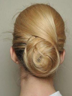 елегантна зачіска пучок