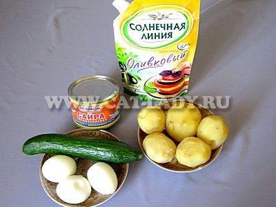 Смачний салат з рибної консервою